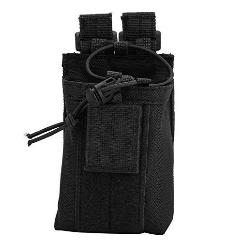 WENHANGshidai Bolsa de nailon ligera para la cintura, bolsa de almacenamiento para botellas de agua, bolsa para hombres y mujeres (negro)