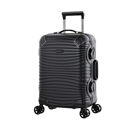 Eminent Handbagage Gold Jetstream 55 cm 40 L Aluminium kader Extra hoekbescherming 4 Stille dubbele wielen Zwart