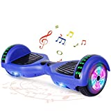 """FLYING-ANT Hoverboard UL 2272 Certified 6.5"""" Two-Wheel Bluetooth Self Balancing Electric Scooter with LED Light Flash Lights Wheels Blue"""