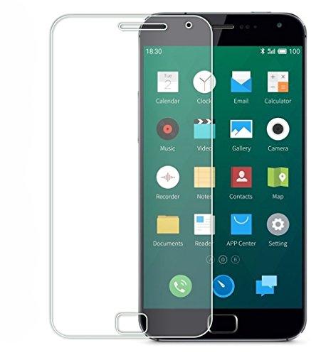 Protector de pantalla Cristal templado para Meizu Mx5 Pro / Meizu M5 PRO 5  Calidad HD, Grosor 0,3mm, Bordes redondeados 2,5D, alta resistencia a golpes 9H. No deja burbujas en la colocación (Incluye instrucciones y soporte en Español)
