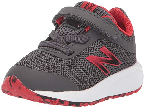 New Balance Boys' 455v2 Running Shoe, Magnet/Velocity Red, 10 M US Toddler