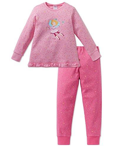 Schiesser Mädchen Prinzessin Lillifee Md Anzug lang Zweiteiliger Schlafanzug, Rot (Rosa 503), 140