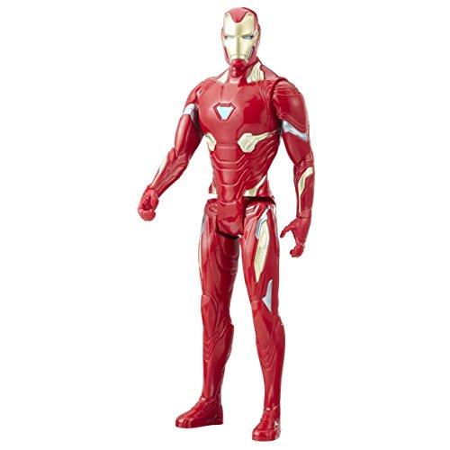 Avengers- Statuetta Marvel Infinity War Series Iron Man con Titan Hero Power FX Port, Colore Rosso, 0, E1410EL2
