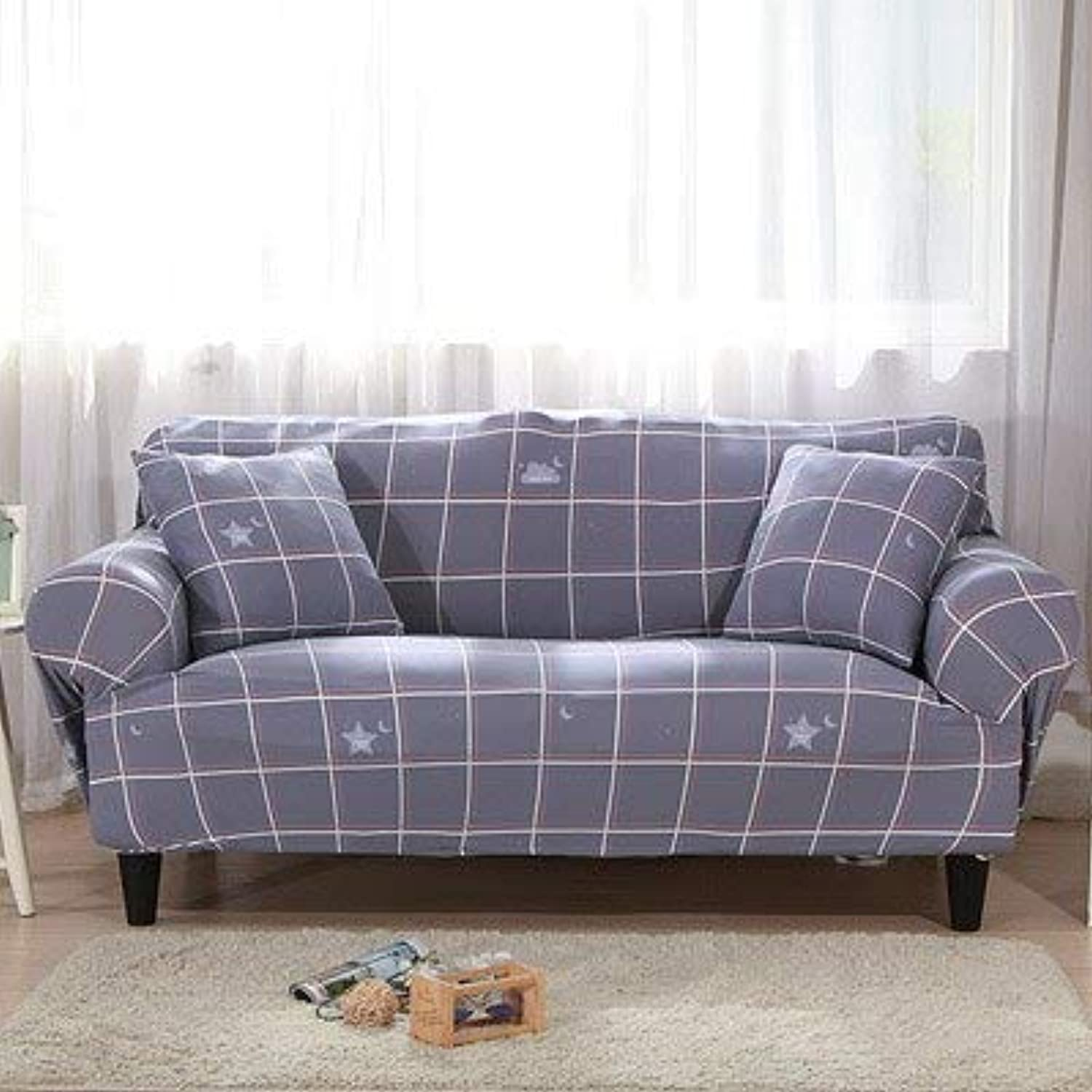 Farmerly Elastic Sofa Cover Printed Flowers Slipcover Tight Wrap All-Inclusive Corner Sofa Cover Stretch Furniture Covers 1 2 3 4 Seater   11, 2 seat
