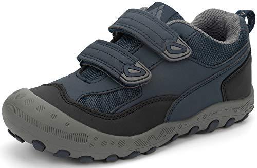 Trekkingschuhe für Kinder Wanderschuhe Jungen Mädchen Mit Schnellverschluss Atmungsaktive Schuhe rutschfest Laufschuhe für Outdoor,Dunkelblau,35 EU