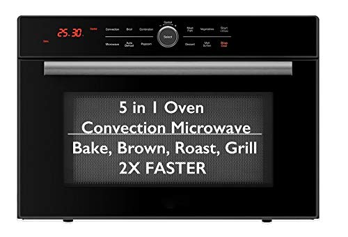 5 in 1 Oven™ Convection Microwave, Bake, Brown, Roast, Grill, Toast & Microwave w/Drop Down Door, Countertop