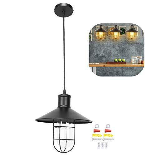 LED-plafondlamp Licht, E27/E26 85-265V LED-kroonluchter Buiten Land Balkon Gangpad Kroonluchter IJzer Industriële stijl Restaurant Bar Droplight Cafe Bar Home Plafondlamp