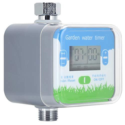 Haowecib Temporizador de Agua Digital, Temporizador de riego, Operación con un botón Temporizador de riego automático Dispositivo de Control de riego para producción agrícola Jardinería doméstica