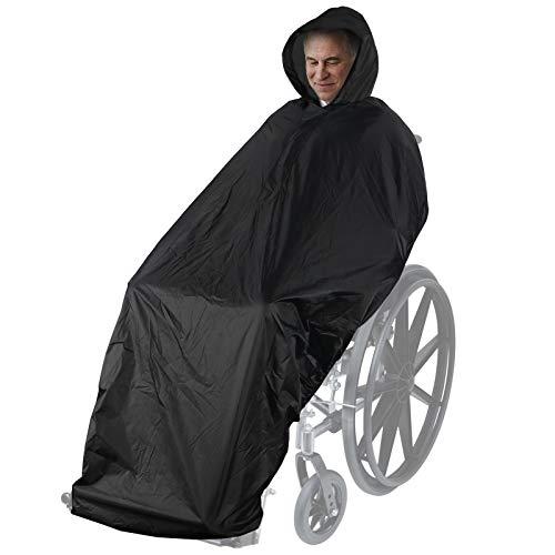 Anyoo Funda impermeable para poncho para silla de ruedas, poncho ligero para lluvia, capa protectora con elásticos que proporciona protección seca para sillas de ruedas