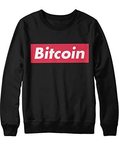 HYPSHRT Herren Sweatshirt Cryptocurrency Bitcoin Supeme Style H000024 Schwarz L