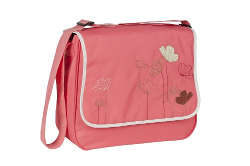 LÄSSIG Baby Wickeltasche Babytasche Kliniktasche Stylische Tasche Mama inkl. Wickelzubehör/Basic Messenger Bag, Poppy dubarry