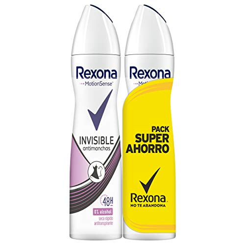 Rexona Desodorante Antitranspirante Invisible On White&Black Clothes - 2x200 ml