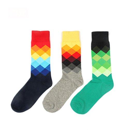 Nanxson Herren Modern Regenbogen Design Baumwolle Socken 5 Paar WZM0027