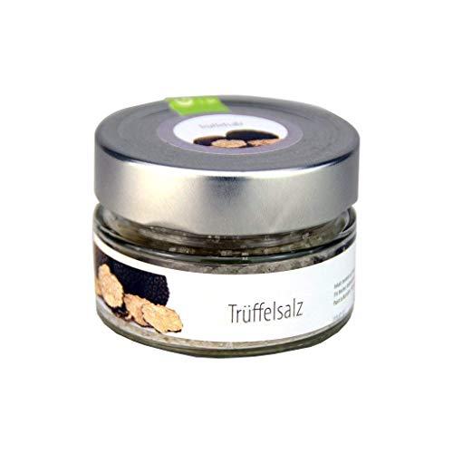 Trüffelsalz ohne künstliche Aromen 100 g, aus mediterranem Meersalz mit 5% frischer italienischer Sommertrüffel