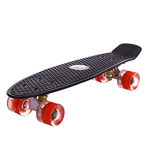 WFFF Skateboards 24''X8 '' Kreuzer Longboards Mit LED Light Riesenrädern Plastik Penny Board Für Anfänger Unisex