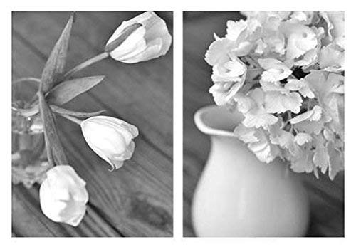 Black and White Art Set Our shop most popular Nippon regular agency Floral Country French Farmhouse Decor