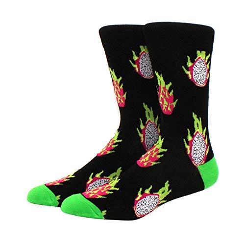 Calcetines para Hombres patrón Hip Hop Hombres Invierno Engrosamiento Largo monopatín Divertidos Calcetines Coloridos 2 Pares-a24