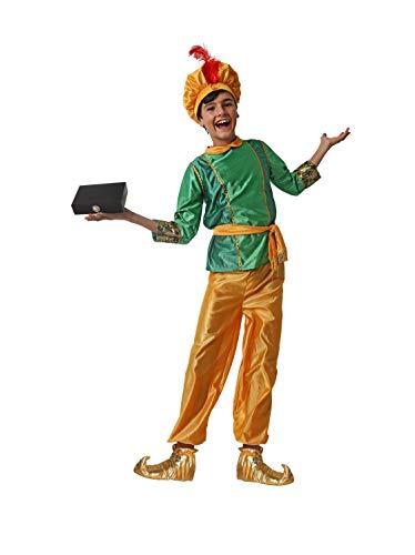 Costumizate! Disfraz de PAJE Verde para niño Talla 3-4 Especial para Navidad