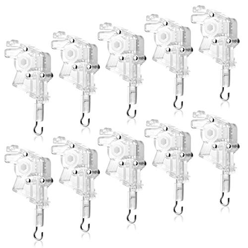 Magicfour Low Profile Wand Tilter, 10 Pack Heavy Duty Low Profile Wand Tilter for 2' Horizontal Blinds with Hexagon Shaped Gear and Hook Connection