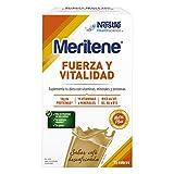 Meritene FUERZA Y VITALIDAD - Suplementa tu nutrición y mantén tu sistema inmune con vitaminas, minerales y proteínas - Batido de Café descafeinado - Estuche (15 sobres de 30g)