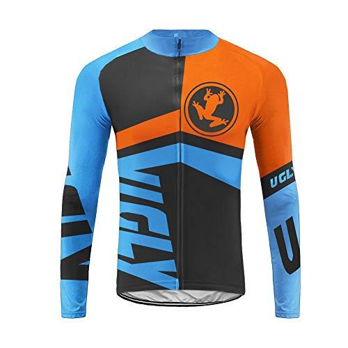 Uglyfrog Deportes al Aire Libre Jersey/Traje Ropa Deportiva Bicicleta Manga Larga Jersey + Pantalones Respirable Seca Rápida Invierno Hombres