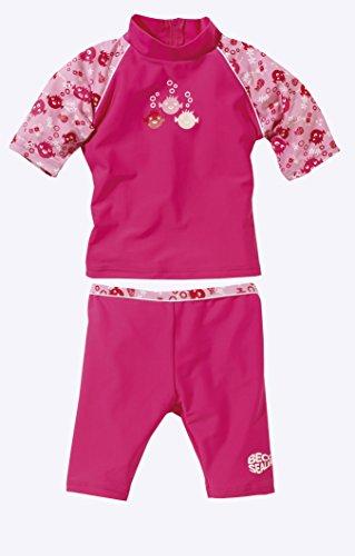 Beco Mädchen Schutzanzug UV Sealife Badeanzug, pink, 92