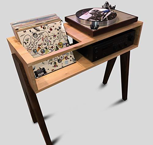 Mobile porta dischi vinile giradischi e amplificatore - Vinyl99