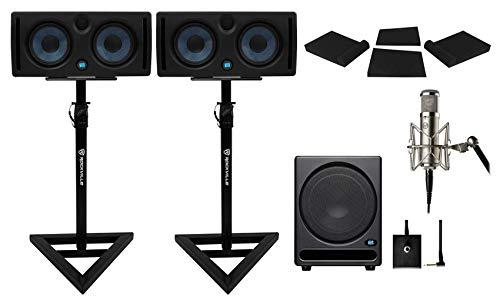 Why Choose (2) Presonus Eris E66 Dual 6.5 Powered Studio Monitors+Subwoofer+Warm Audio Mic