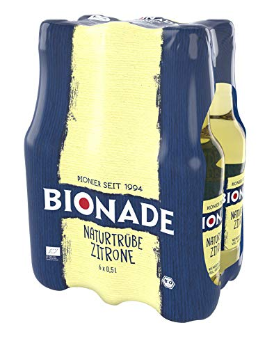 Bionade Zitrone-Bergamotte, 6er Pack (6 x 0,5 l) EINWEG