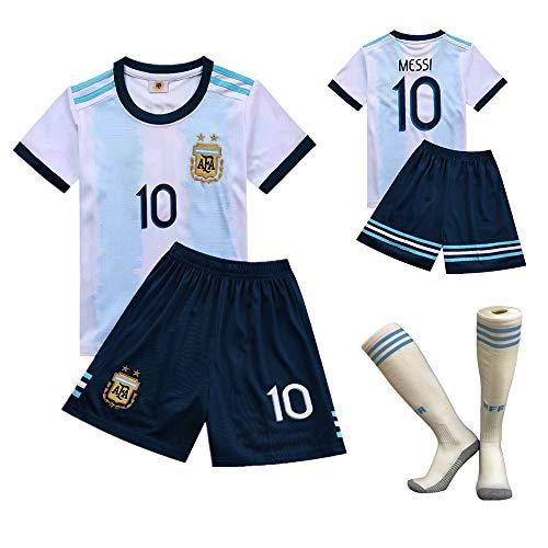 jersey Camisa de FFF Copa Mundial de Fútbol, Argentina Equipo Nº 10 2018 Argentina Camiseta de fútbol para niños Ropa de Entrenamiento de fútbol la Camiseta de la Camiseta de los Cortocircuitos,20