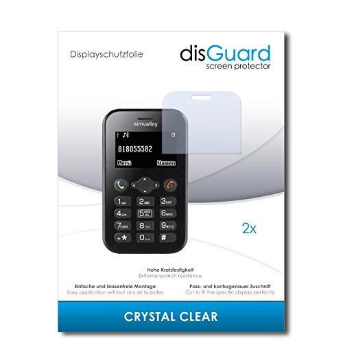 disGuard® Bildschirmschutzfolie [Crystal Clear] kompatibel mit Simvalley Mobile Pico RX-482 [2 Stück] Kristallklar, Transparent, Unsichtbar, Extrem Kratzfest, Anti-Fingerabdruck - Panzerglas Folie, Schutzfolie