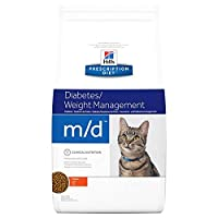 Hill's Prescription Diet Feline m/d Diabetes/Weight Management 5kg was especially formulated for overweight cats with diabetes Contains the largest amount of L-carnitine and lysine to promote fat burning and the maintenance of muscle mass. Its low-fa...