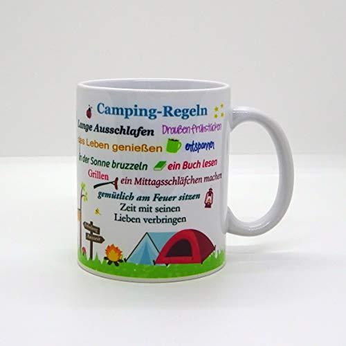 Kaffeebecher ~ Tasse - Camping-Regeln (Wohnmobil)~ Camper - Camping - Wohnwagen - Zelt ~ Weihnachten Geschenk
