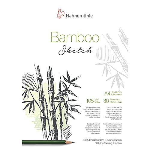 Hahnemuhle Bamboo Sketch 105gsm, A4 Pad, 30 Sheets