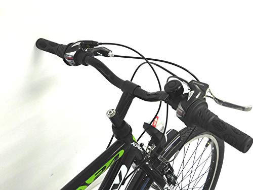 KRON 26 Zoll Fahrrad Herrenrad Jungenfahrrad City Bike 21 Gang Shimano Schwarz Grün neu - 6