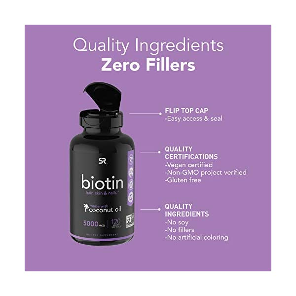 Beauty Shopping Biotin Infused with Organic Virgin Coconut Oil – (120 Veggie-softgels)