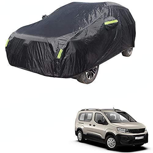 WXFN Fundas para Coche, Protección Solar Impermeable Aesistente Y Duradero Exterior Anti-UV Cubierta Impermeable Funda Exterior Piezas De AutomóViles Al Aire Libre, para Peugeot Rifter 2010-2021
