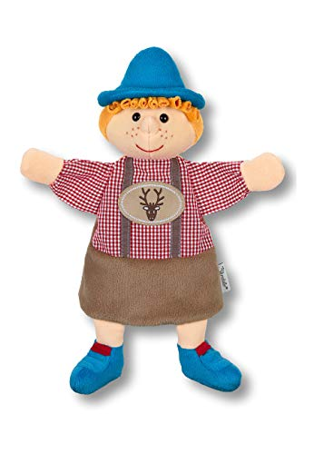 Sterntaler Kinder-Handpuppe Seppel, Ideal für Puppentheater und Rollenspiele, 24 x 21 x 7 cm, Mehrfarbig