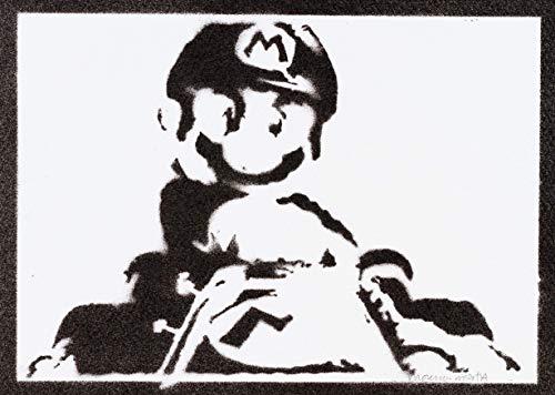 Poster Mario Kart Affiche Handmade Graffiti Street Art - Artwork