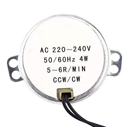 Motor Alupre, motor adaptado 4W CW/CCW del motor síncrono de la CA de 1pc 220-240V(5-6RPM)