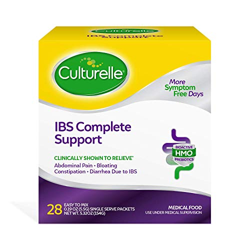 Culturelle IBS Complete Support, for The Dietary Management of Irritable Bowel Syndrome (IBS), Clinically Shown to Relieve IBS Symptoms Including Bloating, Constipation and Diarrhea - 28 Packets