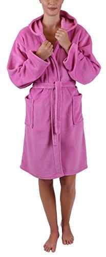Betz Kinder Bademantel Style mit Kapuze Größen 128-164 Kinderbademantel Farben rosa Größe 140