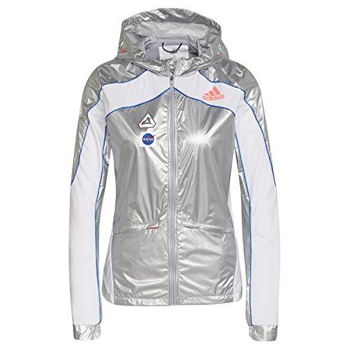 adidas GN4269 SPACE JKT W Damen-Jacke mattsilber/weiß L