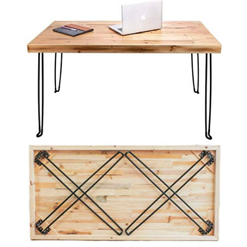 Folding Desk Lightweight Portable Wood Table, Sleekform Small Wooden Foldable No Assembly Required