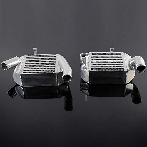 Front Mount Aluminum Intercooler Kit Compatible For Audi S4 B5 2000-2002 /Compatible for Audi Allroad 2001-2005 A6 C5 Twin Turbo Intercooler Replacement Silver
