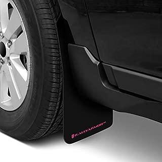 Rally Armor MF32-UR-BLK/BCPK Black, Pink Mud Flap with BCA Logo (15-18 Subaru WRX STI Sedan UR)