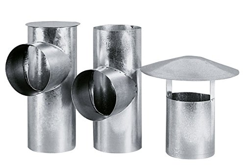 BERTRAMS 031310 Schornsteinrohr T-piece chimney pipe Silber - Schornsteinrohre