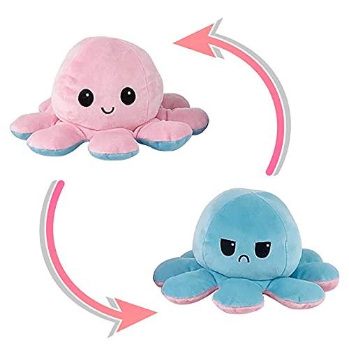 Octopus plüschtier Stimmungs Oktopus Kuscheltier oktopus plüsch wenden Octopus Kuscheltiere Puppe Kreative Spielzeuggeschenke Octupus wenden plüschtier für Kinder Mädchen Jungen Liebhaber