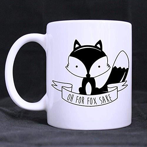 PAWANG 11 Unzen Interessant Oh, Für Den Fox Sake Kaffee Tee, Weiße Tasse