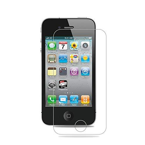 GIVELUCKY 2Pcs / Lot 0.3mm 2.5D Vidrio Templado Frontal y Trasero, para iPhone 4s 4 Película Protectora de Pantalla, para iPhone 4